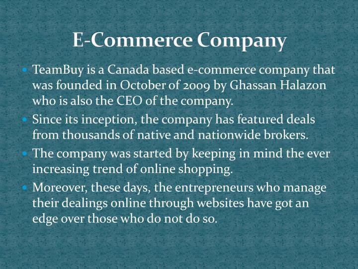 E commerce company