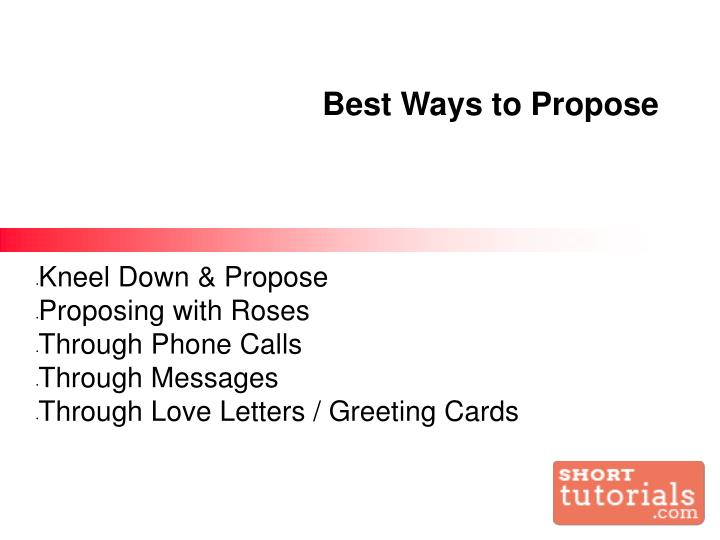 Ppt How To Propose A Girl Powerpoint Presentation Id 7123749