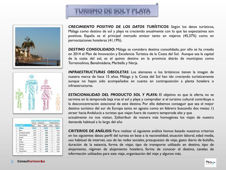 Turismo de SOL Y PLAYA