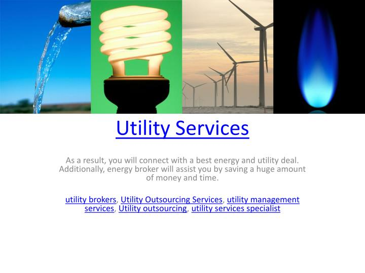utility services n.