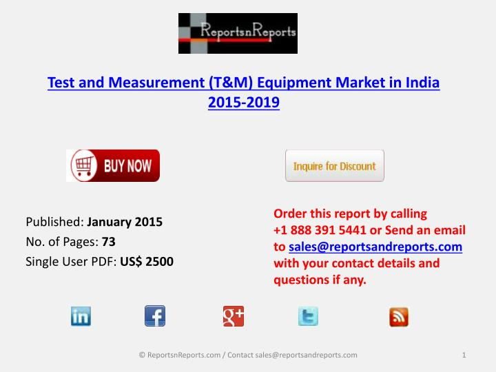 test and measurement t m equipment market in india 2015 2019 n.
