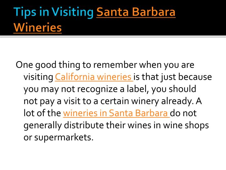 Tips in Visiting