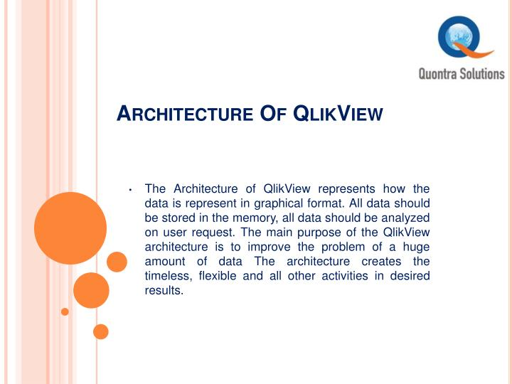 Ppt qlikview training classes by quontra solutions for Architecture qlikview