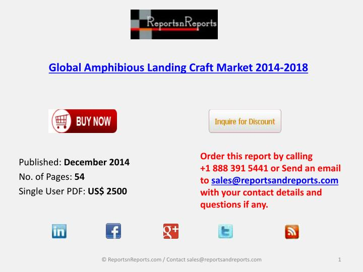 global amphibious landing craft market 2014 2018 n.